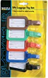 5 x LUGGAGE LABELS address tags holiday suitcase