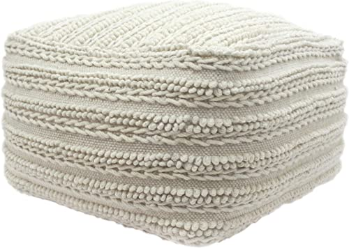 Christopher Knight Home Marcia Large Square Casual Pouf