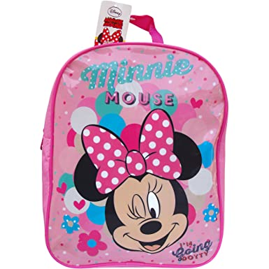 Disney Minnie Mouse School Pink Dot Backpack Bag  Amazon.co.uk  Clothing 0b86ad9544258