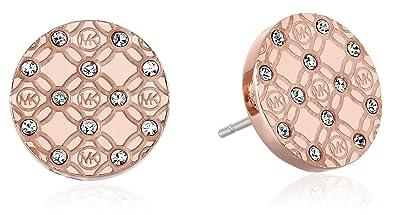 c9c35d55c53a Amazon.com  Michael Kors MK Monogram Rose Gold Stud Earrings  Jewelry
