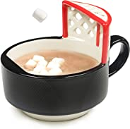 MAX'IS Creations The Hockey Mug With A Net 14 oz oversized ceramic hockey puck cup or bowl for coffee, tea, cocoa, soup, fun