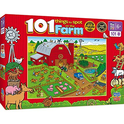 MasterPieces 101 Things to Spot on a Farm - 101 Piece Kids Puzzle
