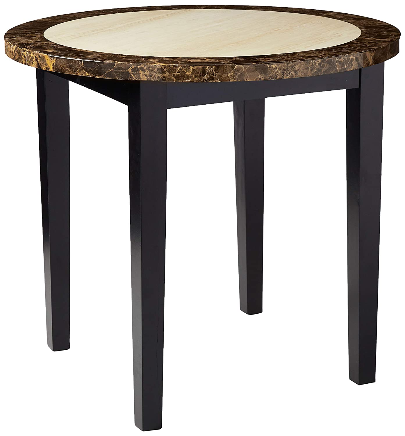 Creation Yusheng Square Dining Table, living room table with Wooden Legs, Black