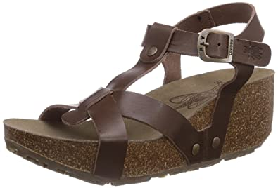 2cb2a572b2 Fly London Women's COLA Open Toe Sandals Brown Size: 8 UK: Amazon.co ...