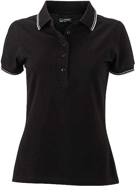 James /& Nicholson Damen Kurzarm Polo T-Shirt verschiedene Farben und Gr S-XXL