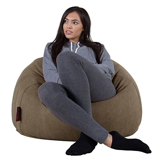 LOUNGE PUG   DENIM   Bean Bag Chairs   CLASSIC Gaming Chair Beanbags    Earth GREEN