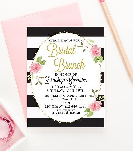 brunch bridal shower invitations bridal shower brunch invitations floral bridal shower invitations rustic