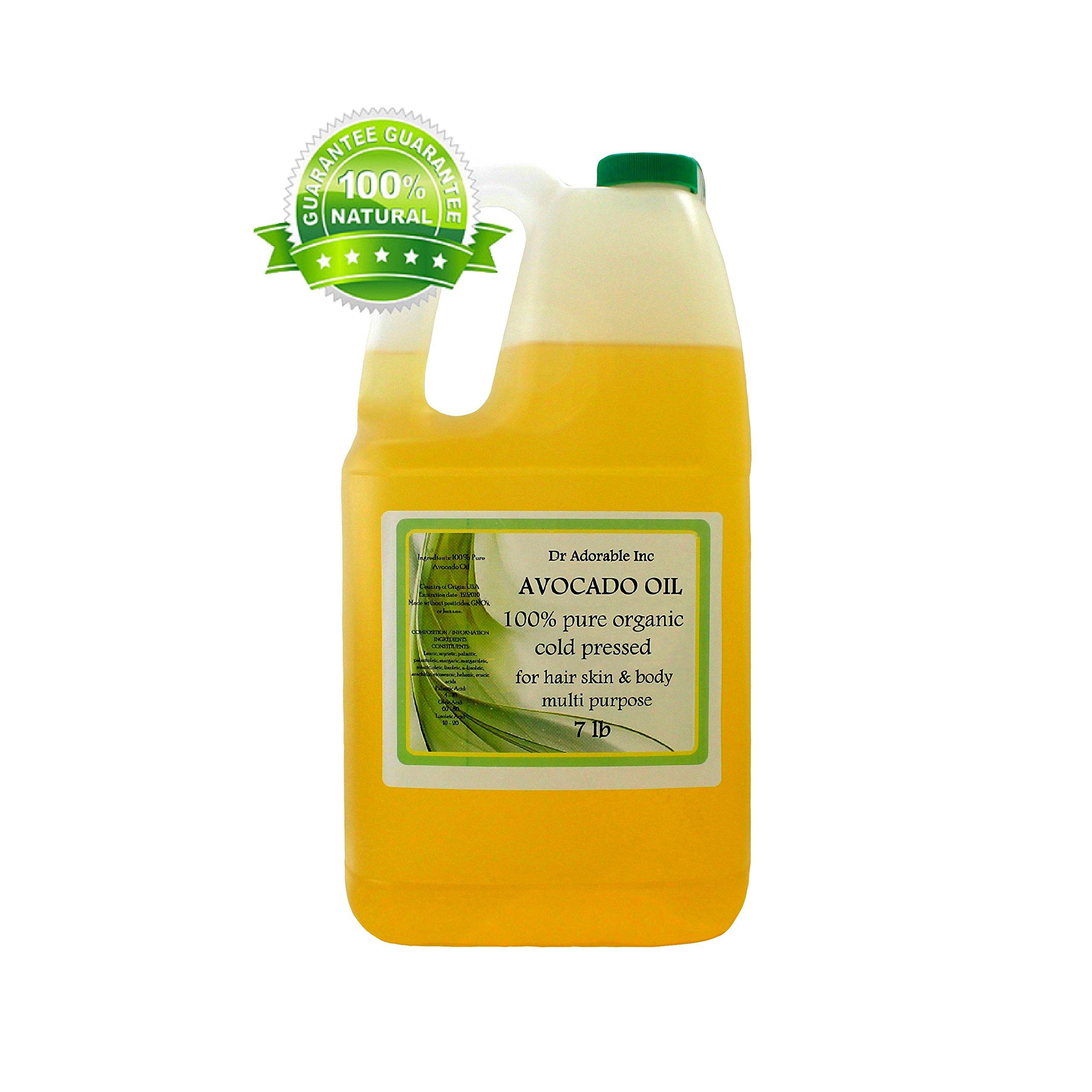 Avocado Oil Organic Pure Cold Pressed 128 Fl. Oz/1 Gallon/7 Lb by Dr Adorable