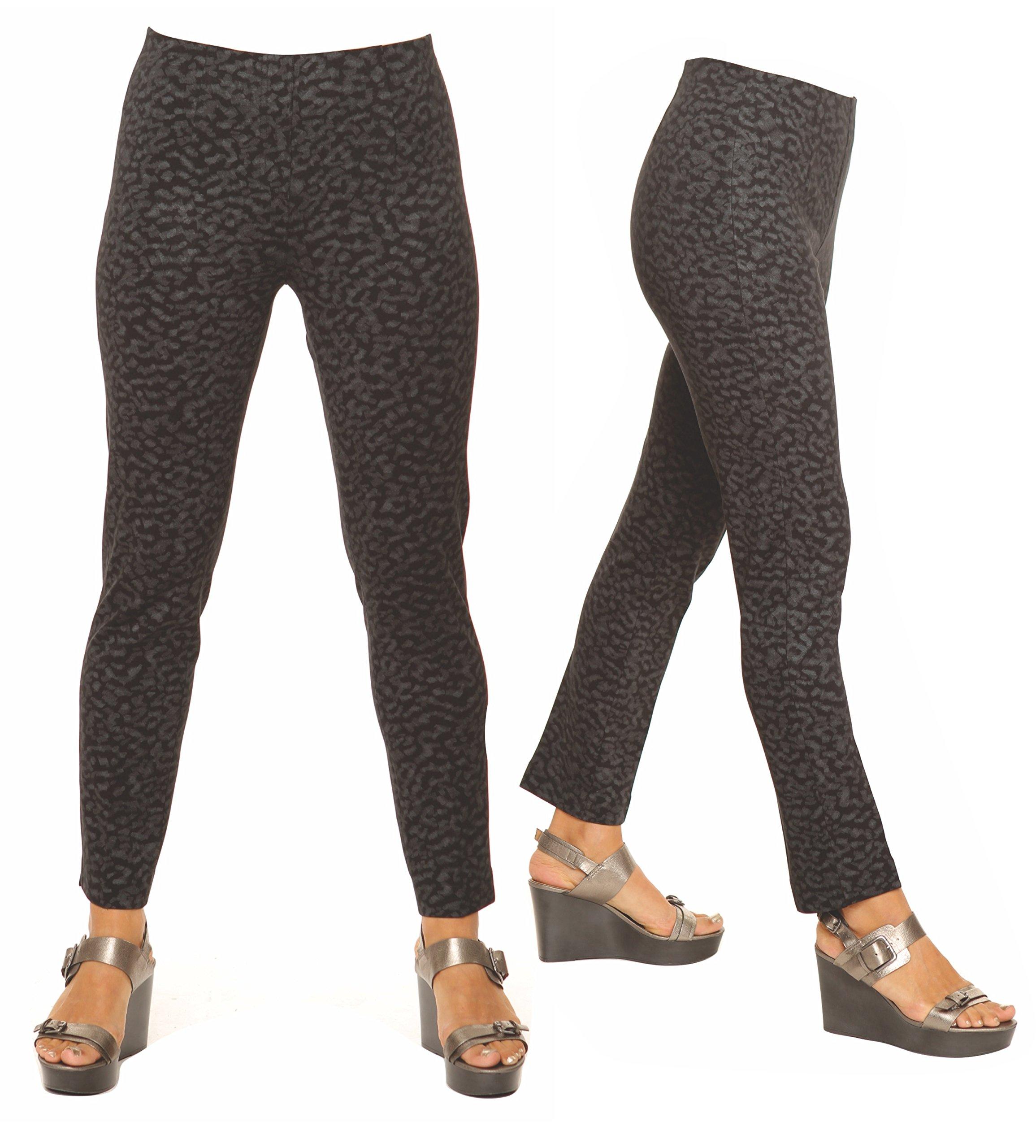 Lior Paris SASHA Magnet Design Grey on Black Printed Ponte Pant (18,June)