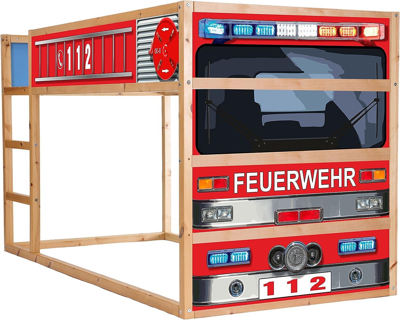 STIKKIPIX® Bomberos Cama Muebles Protector de Pantalla Autoadhesivo/Pegatinas – im209 – Diseñada para la habitación hochbett kurá de IKEA