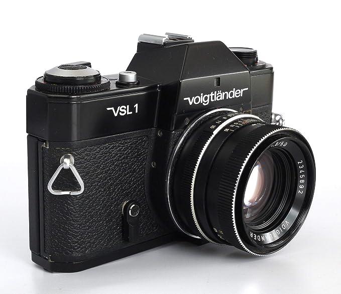 Voigtländer VSL 1 Negro + Ultron 50mm f1.8 Montura QBM: Amazon.es ...