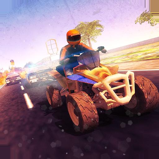 Quad Bike Bandit vs Police NOS Racing HD Full Version