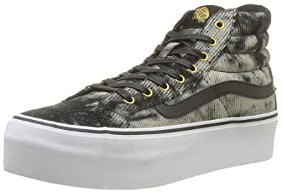 796e2abcf6 Vans Footwear Sk8-Hi Platform Studded Sneaker 3 Black  Amazon.co.uk ...