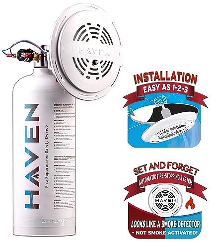 haven automatic heat activated fire extinguisher non toxic abc 5 rh amazon com