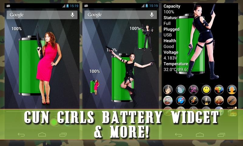 Gun Girls Battery Widget (Free): Amazon.es: Appstore para ...