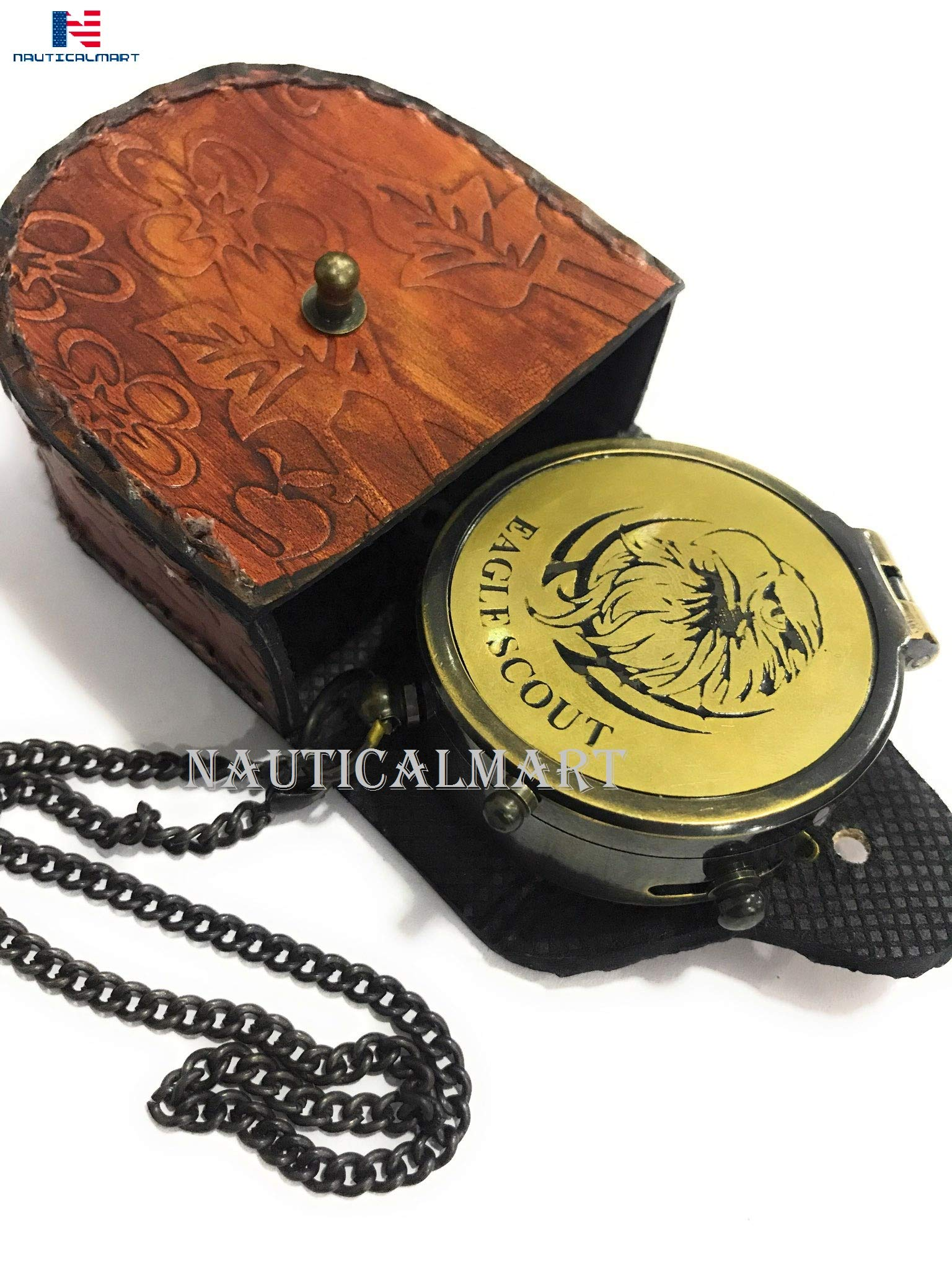 Eagle Scout, Boy Scout Compass Engraved Vintage Style Working Compass Gift