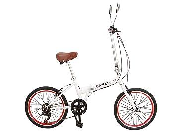 DaFatCat Bicicleta Plegable de Diseño Kickass 80s, 6 velocidades Shimano ,