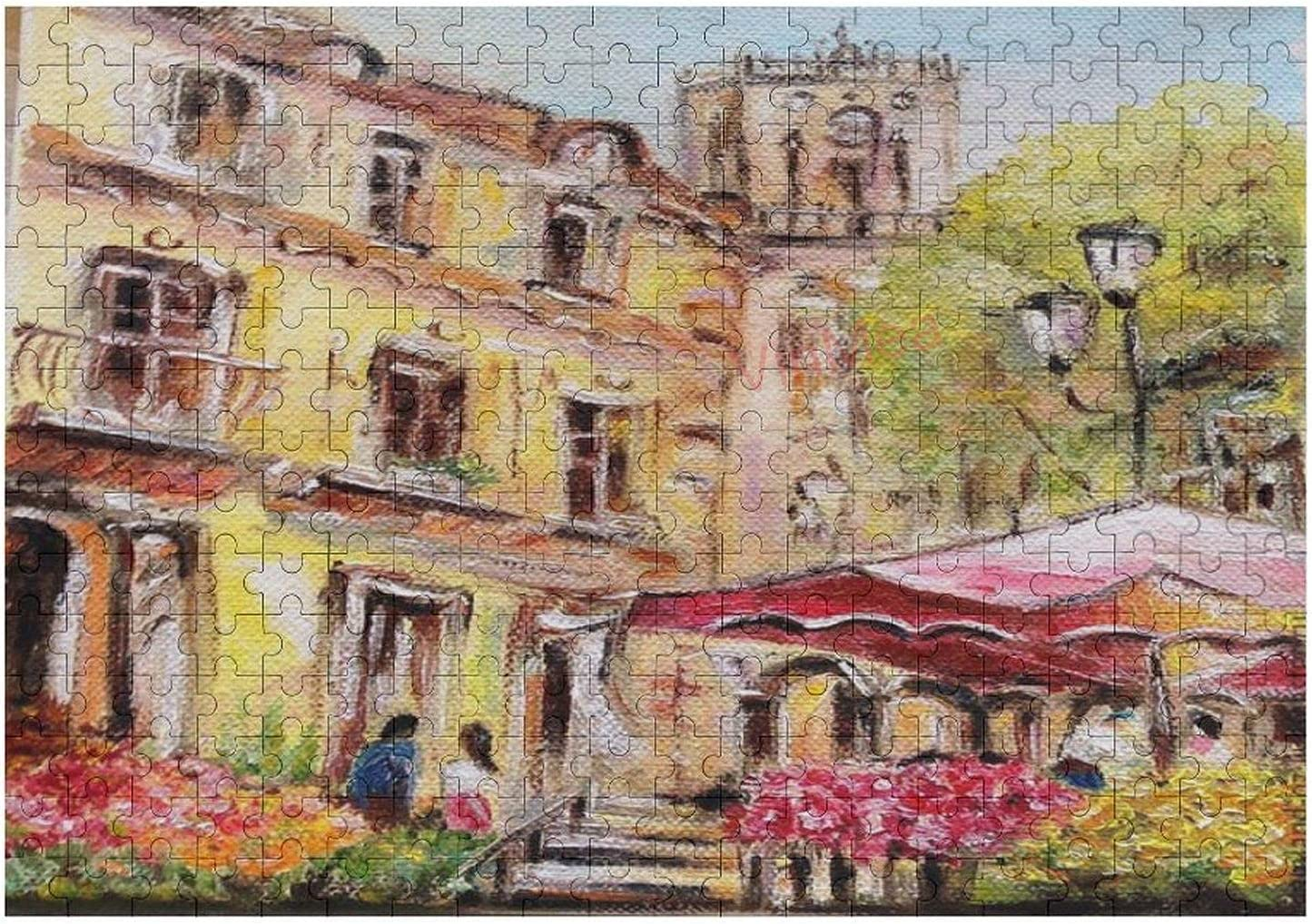 300 Pieces Jigsaw Puzzle Oil Painting Marche Aux Fleurs Jigsaw Puzzle for Child, Adults Home Decor Fun Game Toys Birthday Gift