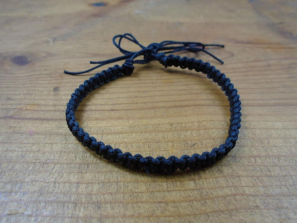 Boho Anklet Summer Beach Anklet Removable Macrame Anklet Czech Beaded Anklet 10 Transparent Steel Blue Hemp Ankle Bracelet