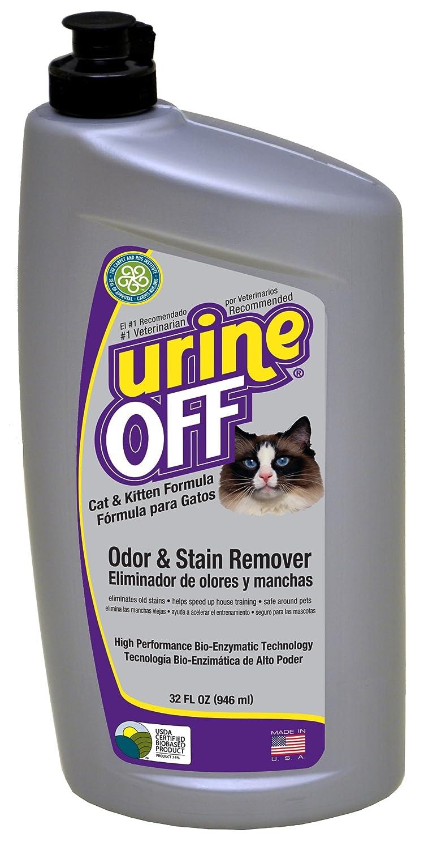 Urine Off Quitamanchas y eliminador de olores para gatos y gatitos de 946 ml: Amazon.es: Productos para mascotas