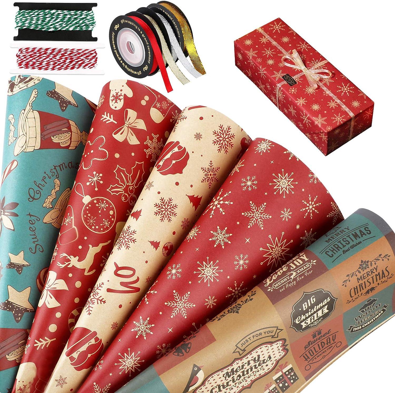 Papier cadeau pour la fête de Noël
