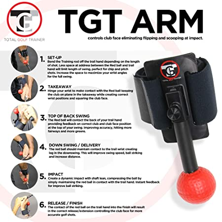 Total Golf Trainer Arm – Golf Training Aids – Teaches the Ideal Wrist Elbow and Arm Position Throughout the Golf Swing