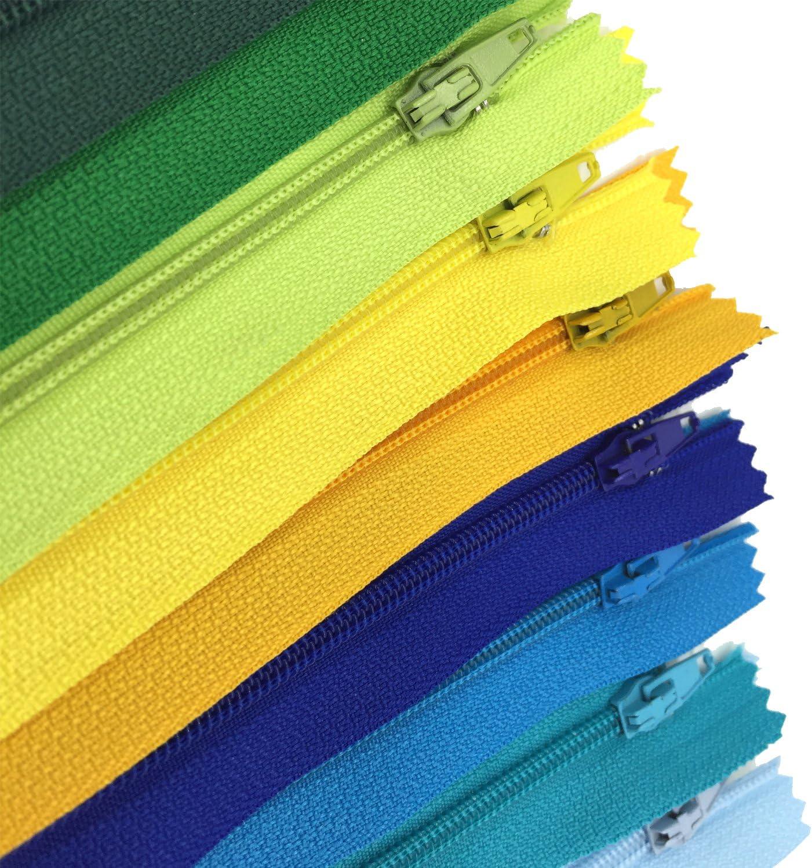 2.5cm breit f/ür Kleidung Tasche M/äppchen Kissenbezug Wartoon Rei/ßverschluss 120 St/ück 20cm lang 24 Farben Nylon Rei/ßverschl/üsse