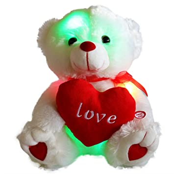 Wewill brand easter gift led light up glow adorable stuffed wewill brand easter gift led light up glow adorable stuffed animals soft toys teddy bear with negle Choice Image
