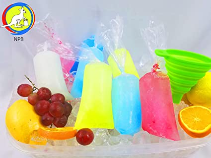 3x10 200 pcs Ice Pop Bags bpa Free /1 Free Funnel and Multipurpose Use/Vikingos/marcianos/bolsas para Bolis de Hielo/Freezen ice Popsicle Bags/ice ...