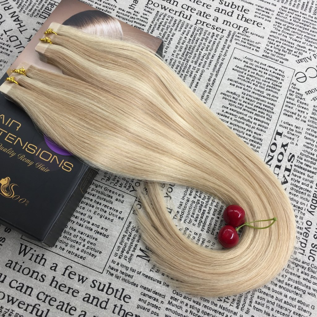 Hair Extensions Full Shine Real Hair Clip In Extensions Ash Blonde Color #18 Fading To 613 Blonde 7pcs 100g Remy Human Hair Clip Ombre Extension To Have A Unique National Style Clip-in Full Head