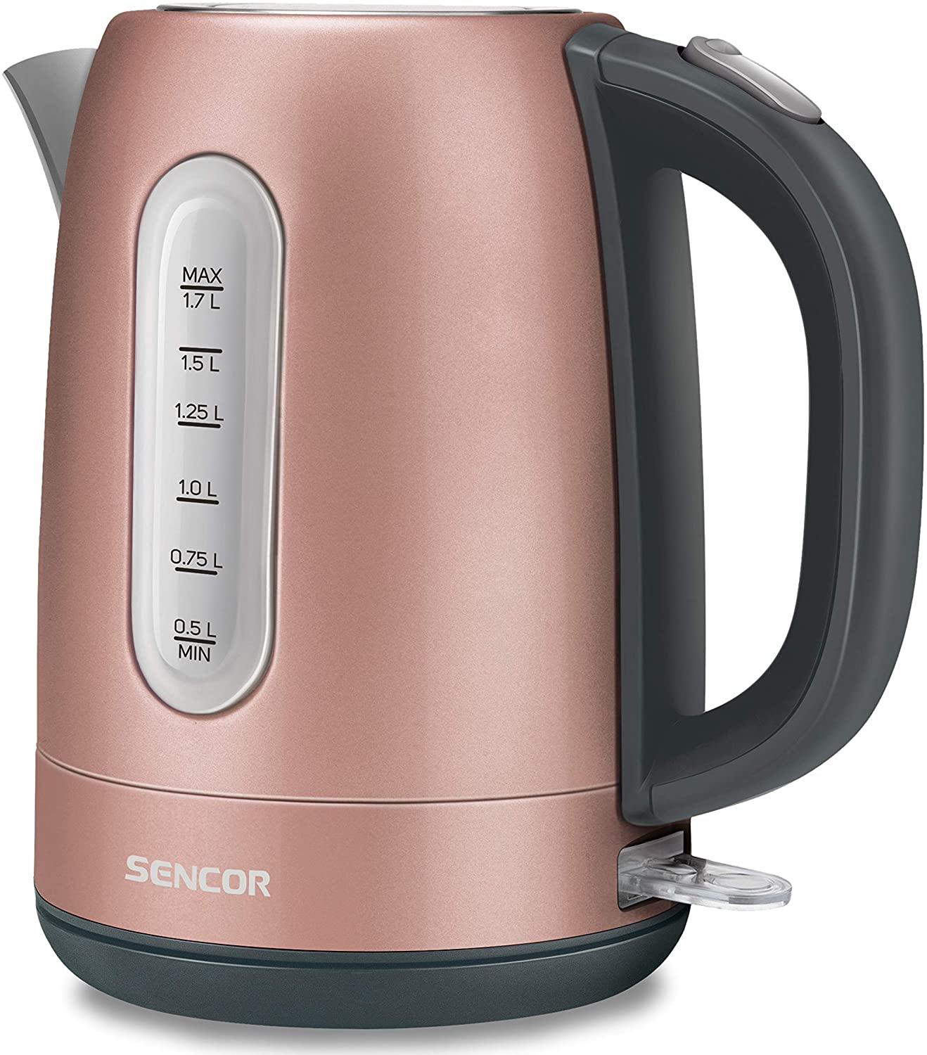 Sencor SWK1775RS 1.7L Stainless Steel Electric Kettle with Lid Safety Lock, Pink