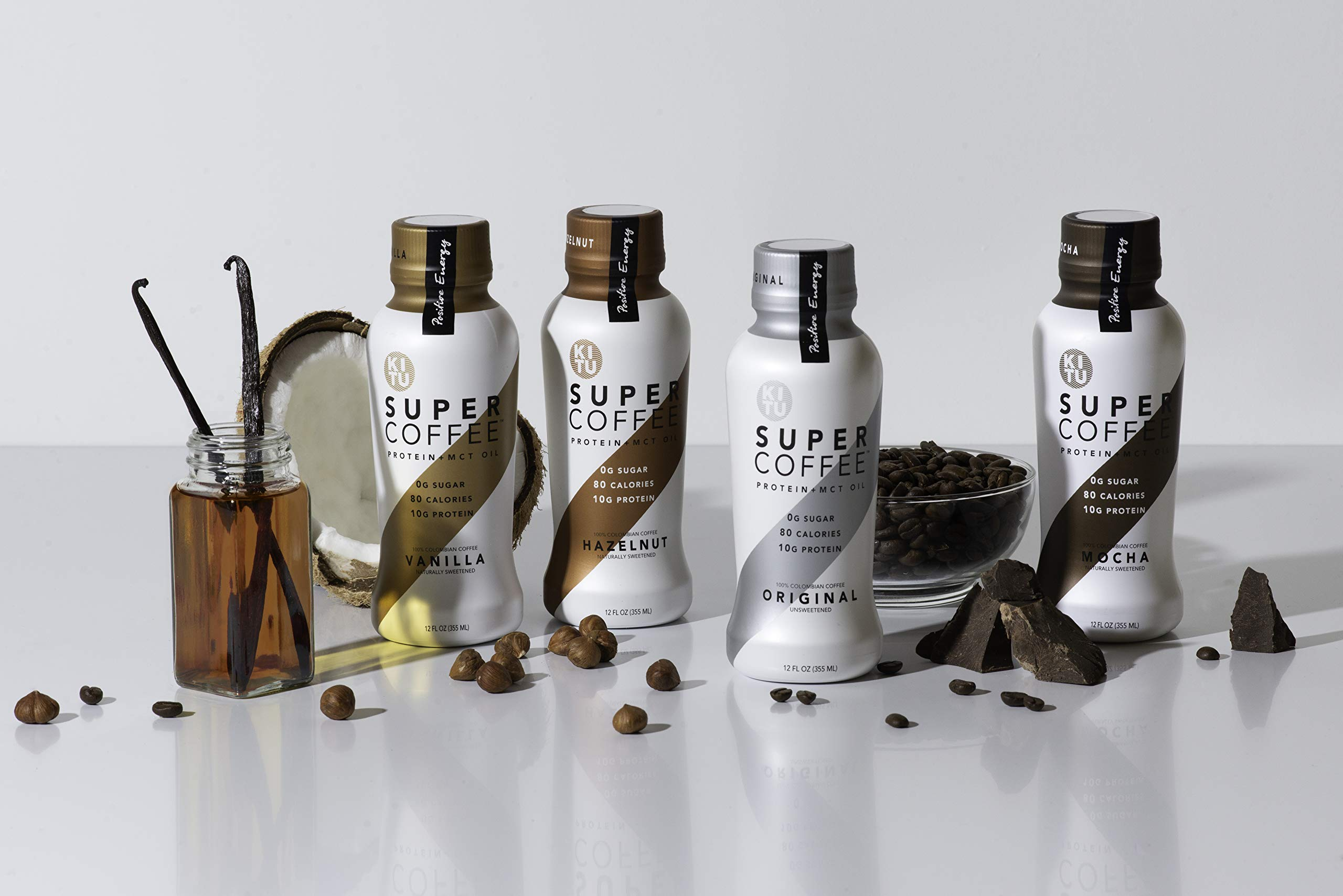 Kitu by Sunniva Super Coffee Sugar-Free Formula Variety Pack, 10g Protein, Keto Approved, Lactose Free, Soy Free, Gluten Free (3 each of Vanilla, Mocha, Hazelnut, and Original) by SUNNIVA SUPER COFFEE