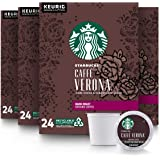 Starbucks Dark Roast K-Cup Coffee Pods — Caffè Verona for Keurig Brewers — 4 boxes (96 pods total)