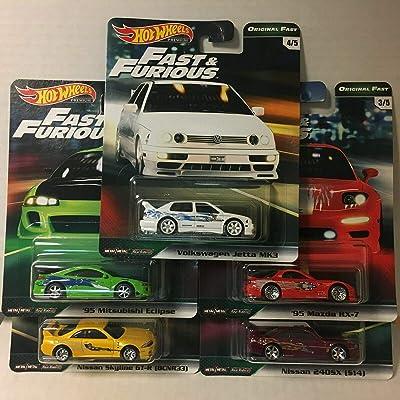 Hot Wheels 2020 Fast & Furious Premium B Release 5 CAR Set: Toys & Games
