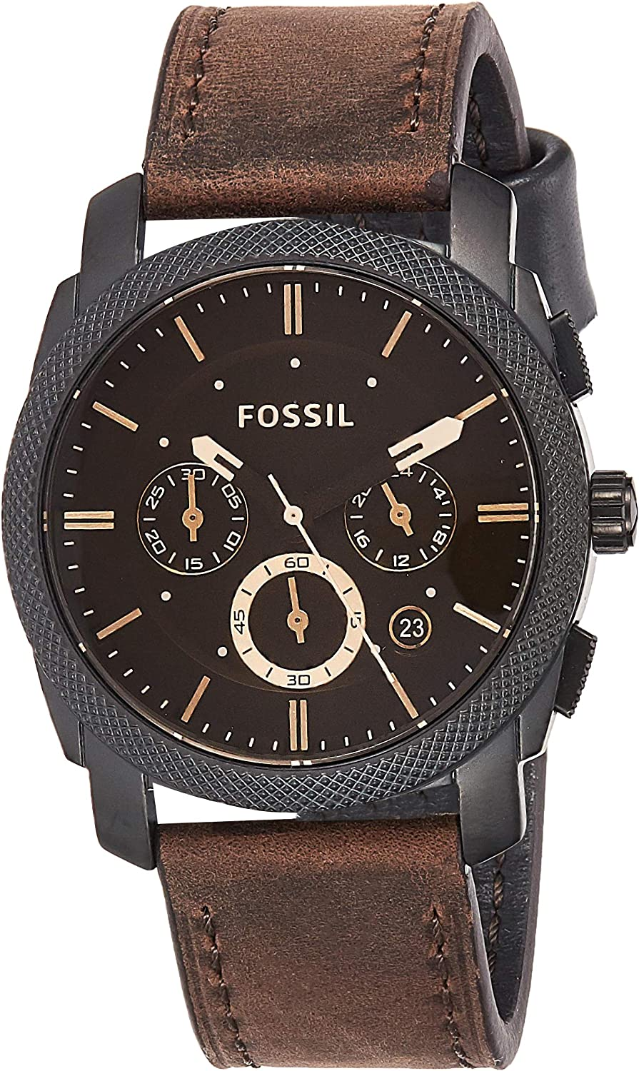 Fossil Men s FS4656 Analog Watch with Brown Band