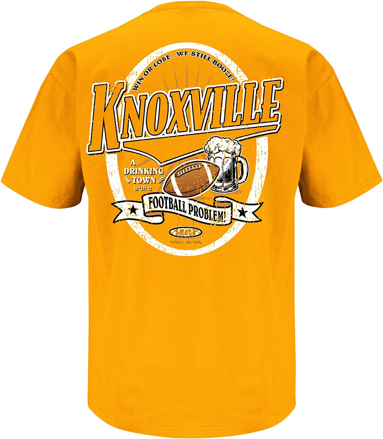 Sm-5x Smack Apparel Tennessee Football Fans Knoxville Drinking Town Orange T-Shirt