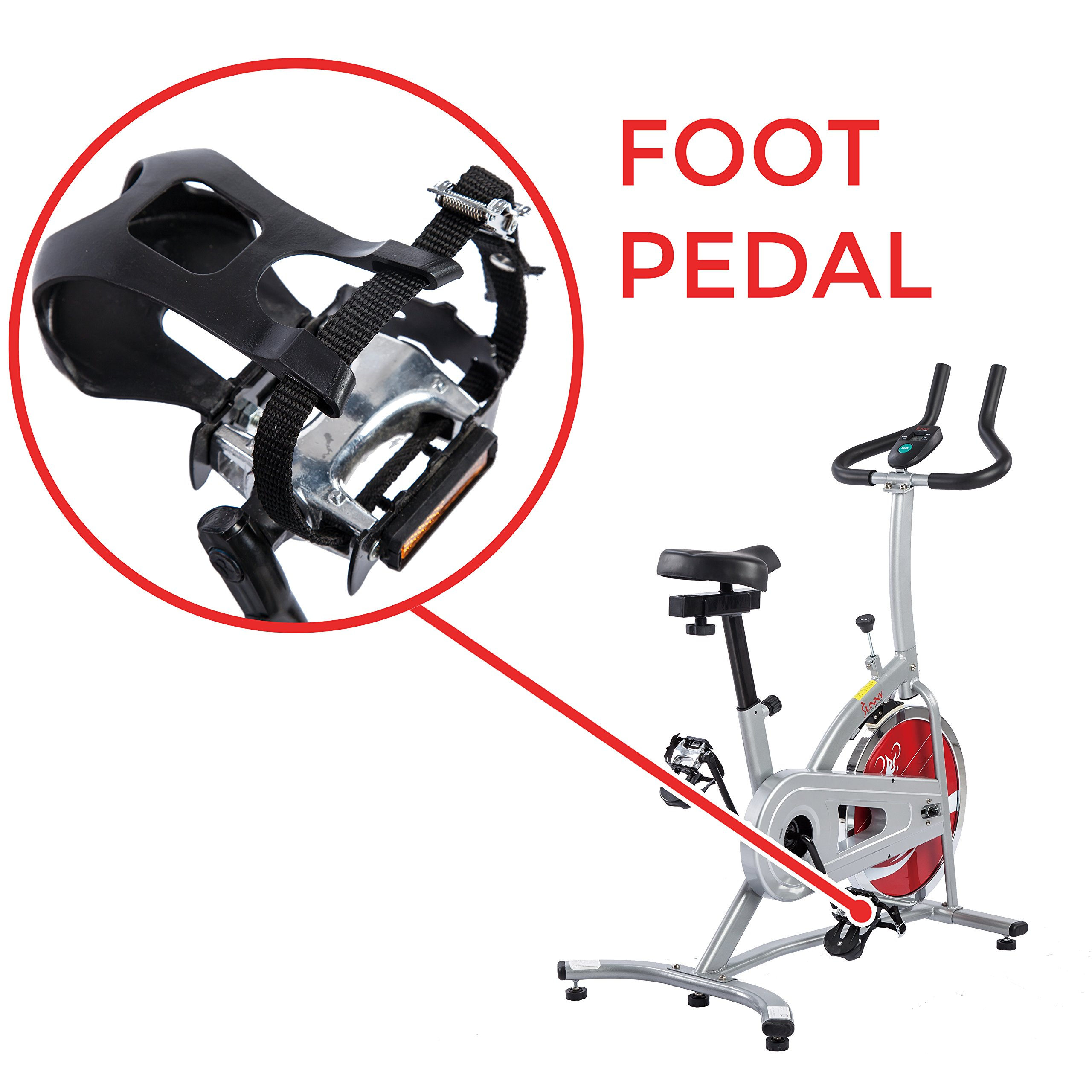 Sunny Health & Fitness Indoor Cycling Exercise Stationary Bike with Monitor and Flywheel Bike - SF-B1203 by Sunny Health & Fitness (Image #6)