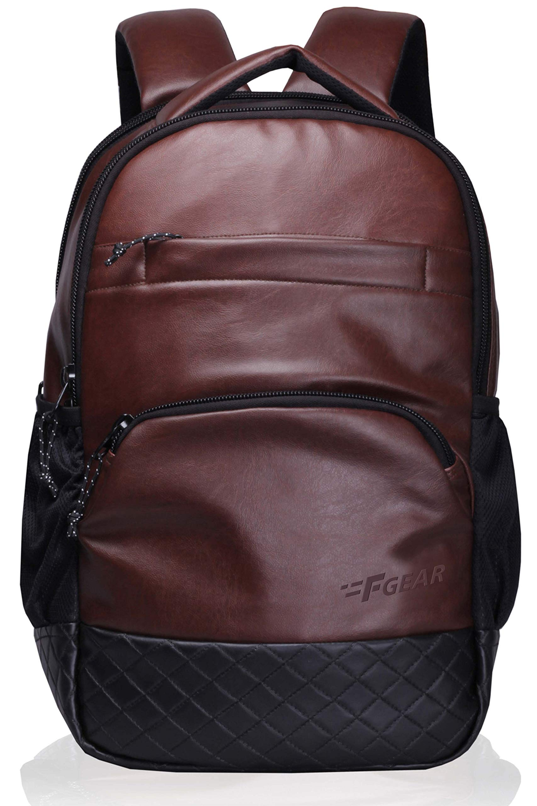 "F Gear LuXur Synthetic Leather Brown 16.5"" Laptop Backpack (2404) product image"