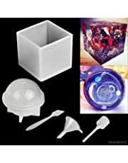Polymer Clay / Resin Epoxy Molds - Set of 2 Silicone Shapes - Cube / Sphere