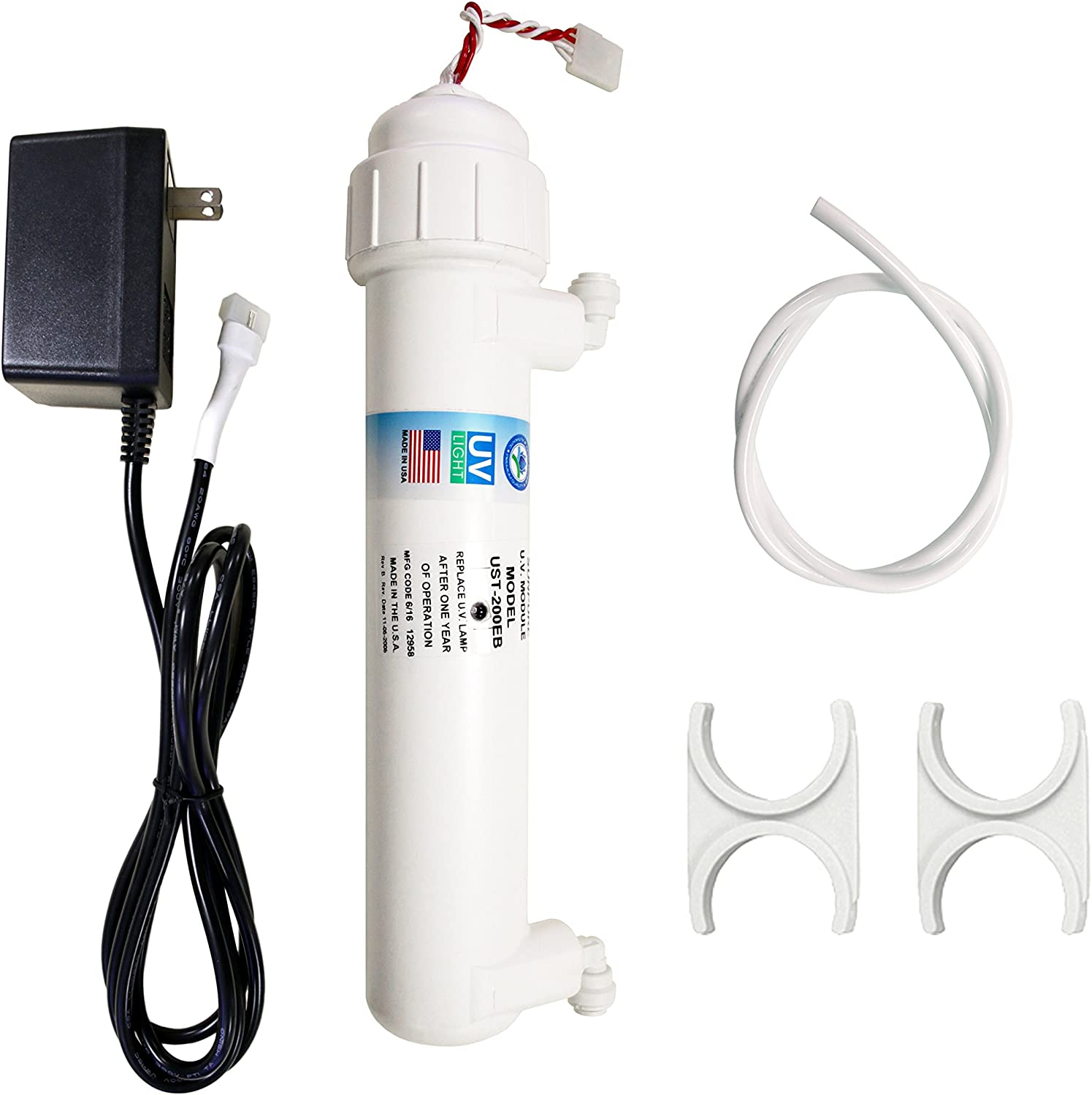 "APEC Water Systems UV Ultra Violet Sterilizer Water Filter Kit with 1/4"" Quick Connect UG-UVSET-1-4"
