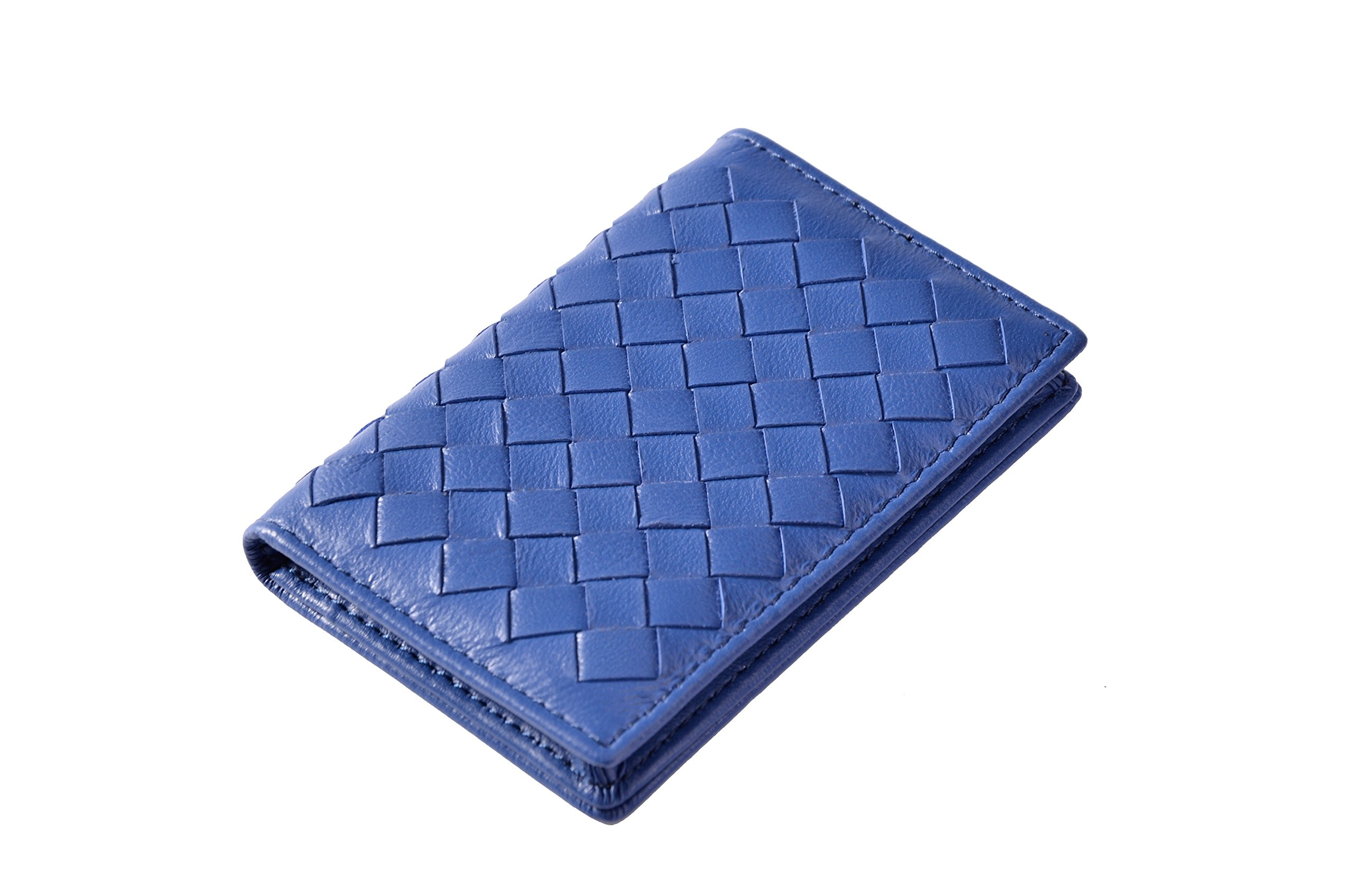 Tarhoo RFID Blocking Genuine Leather Card Holder,Card Case Hold 40 Business Cards in Gift Box for Men and Women(Sapphire blue)