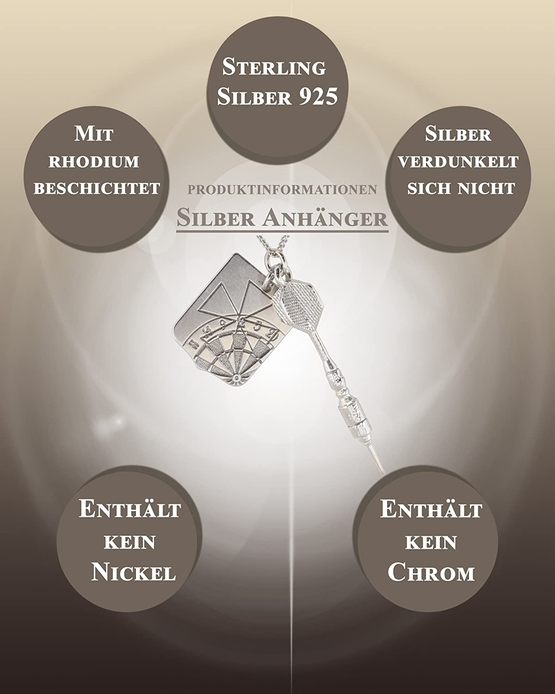 m3crystal Silber Männer Anhänger Edle Kettenanhänger aus 925 Silber ...
