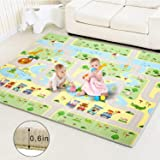 Baby Play Mat Extra Large Baby Mat Folding Foam Playmat Kids Crawling Mat Reversible Non Toxic Waterproof for Infants…