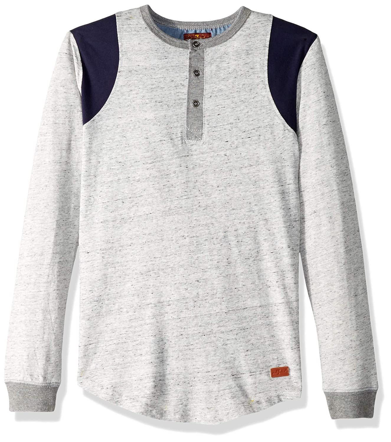 7 For All Mankind Boys Long Sleeve Henley Shirt
