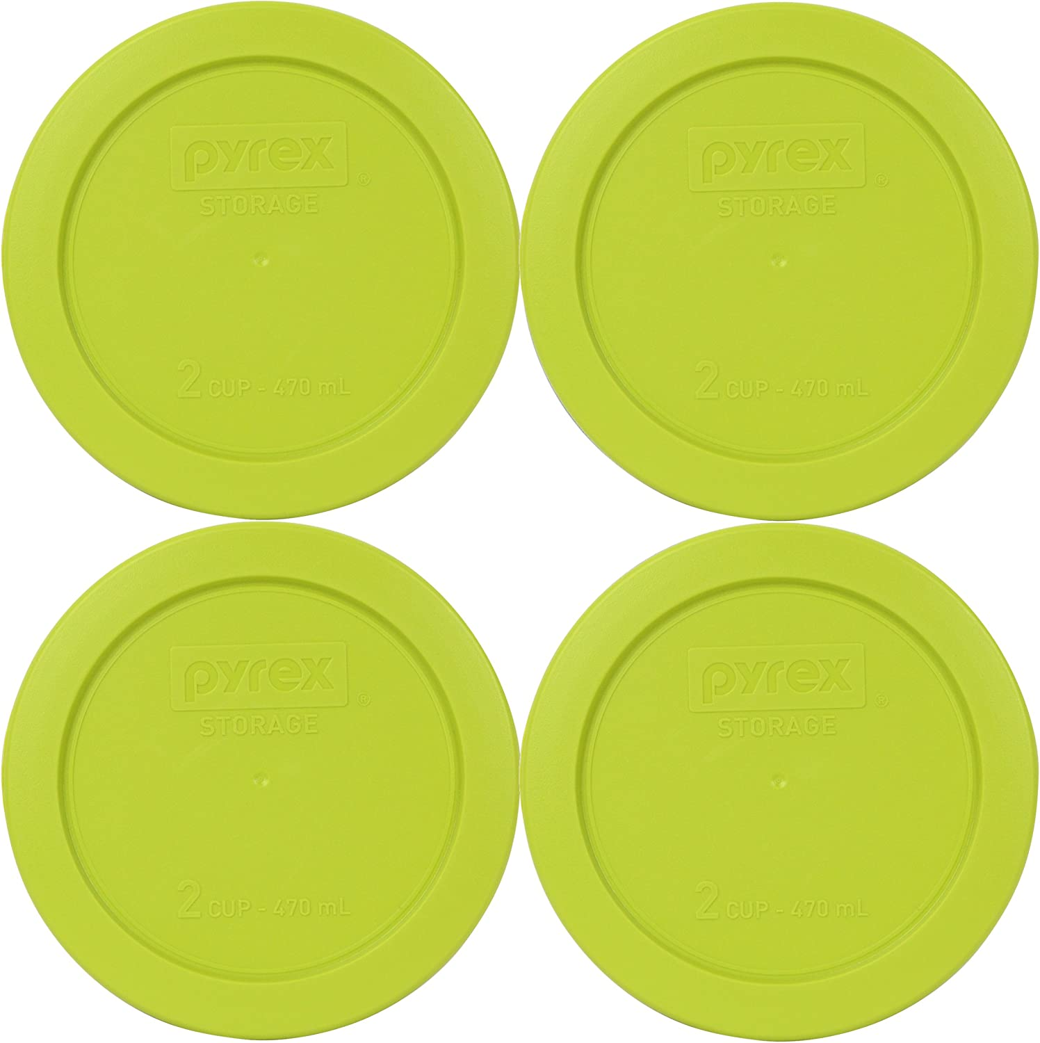 Pyrex Edamame 2 Cup Round Storage Cover #7200-PC for Glass Bowls 4-Pack