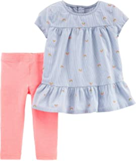 6a643f2b Amazon.com: Simple Joys by Carter's Toddler Girls' 4-Piece Tops and ...