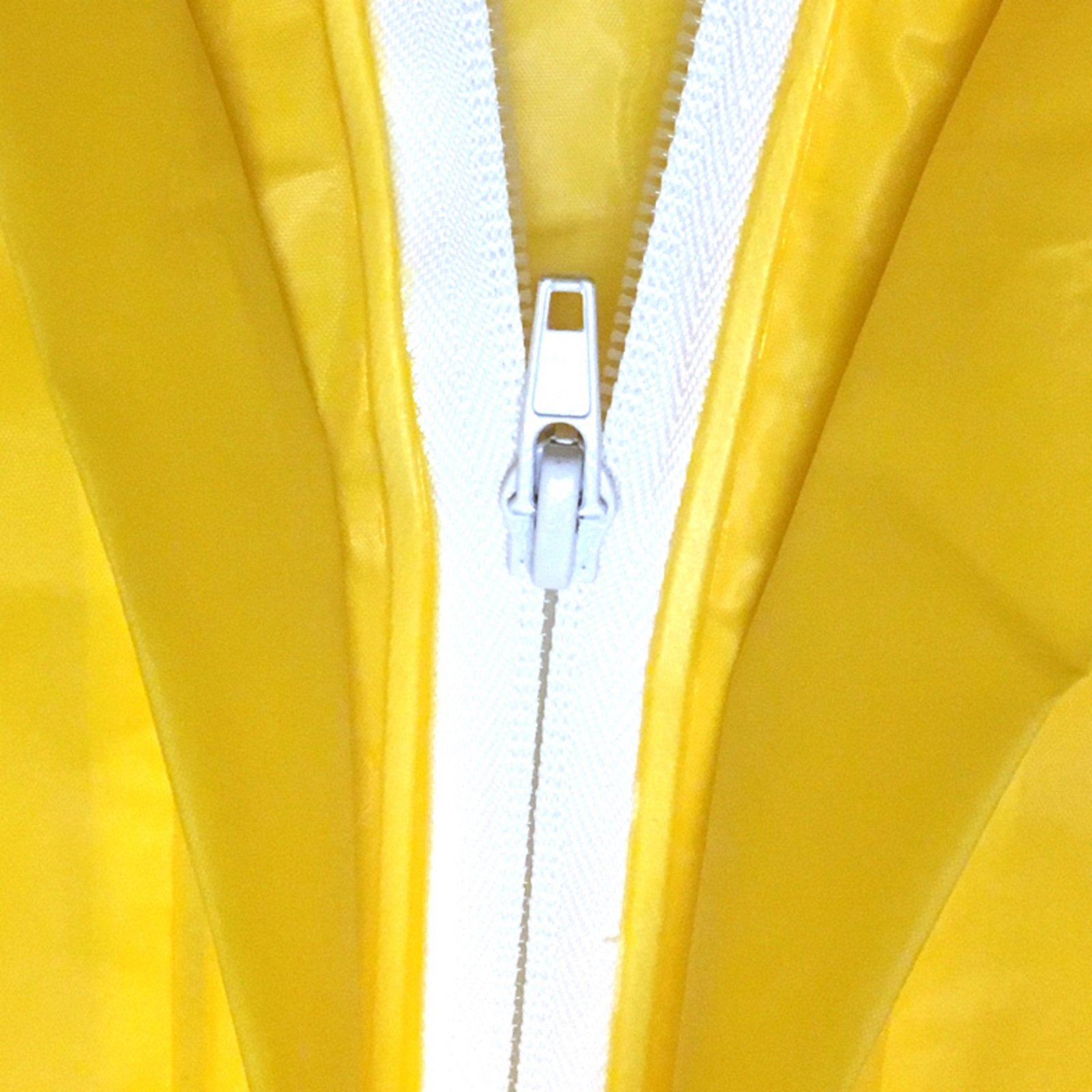 TRIBUTE Safe PVC Free Kids Rain Coat Boys or Girls Ages 7-12 Rain Poncho For Children With Zipper Fun Raincoat, Yellow Duck by TRIBUTE (Image #3)