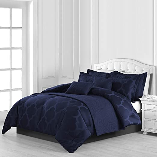 Amazon.com: Comfy Bedding Lantern Jacquard Microfiber 8 Piece