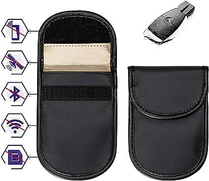 Wemk 2 Pack Signal Blocker Tasche Keyless Go Schutz Autoschlüssel Strahlenschutz Tasche Für Keyless Schlüssel Auto Signal Keyless Schlüsseletui Funkschlüssel Abschirmung Auto