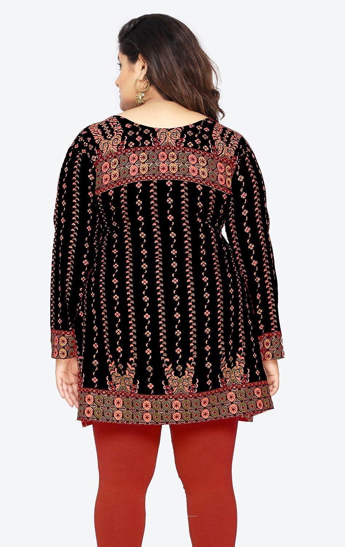 c19d015179 Maple Clothing Women s Plus Size Indian Kurtis Tunic Top Printed India  Clothing at Amazon Women s Clothing store